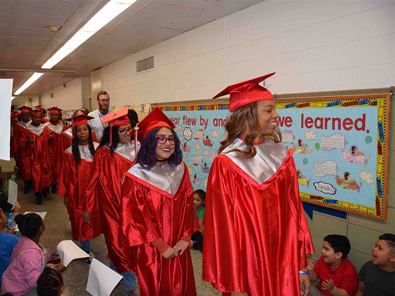 Amityville Seniors Walk the Halls of the Past
