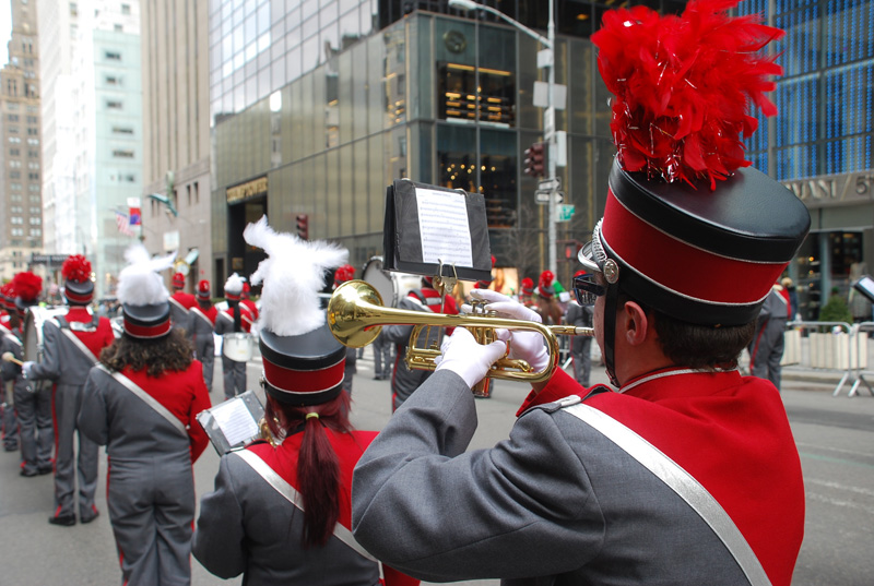 HS Band Marches in Iconic Parade