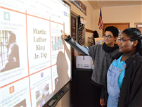 Middle School Students Analyze Dr. King's Legacy photo